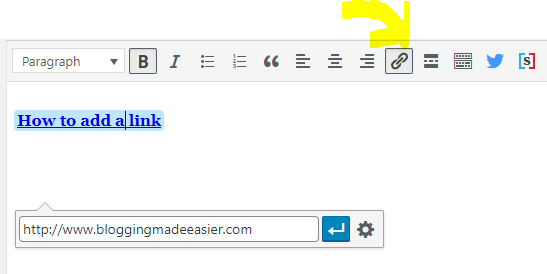 How to add links to WordPress website