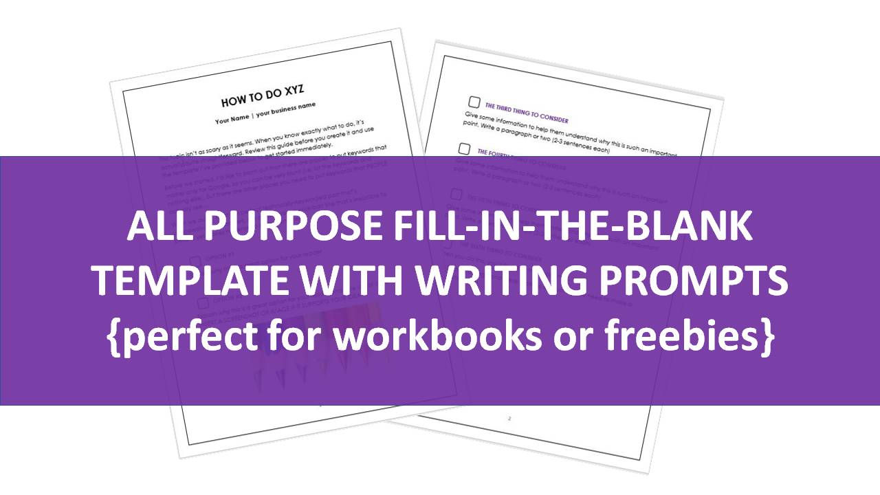 Ebook Optin Freebie Templates With Writing Prompts
