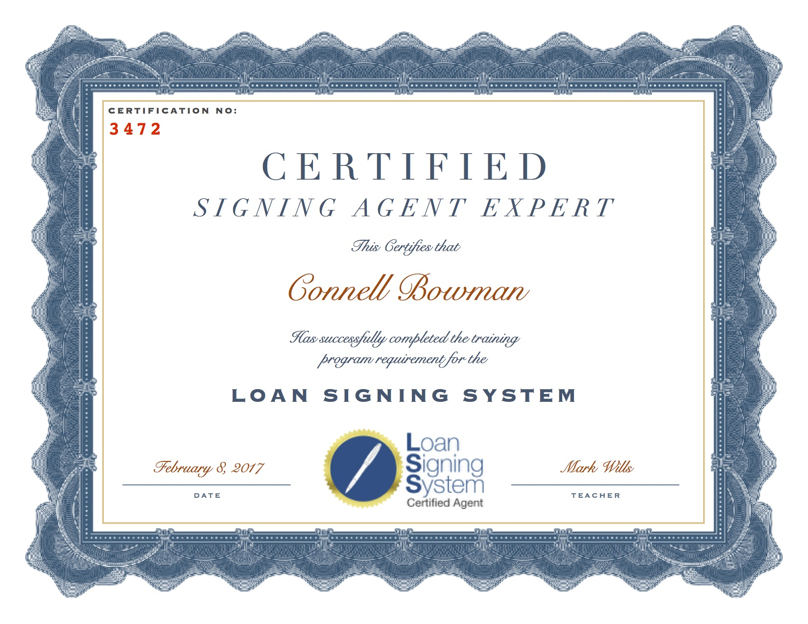 Loan Signing System Notary Signing Agent Training Course