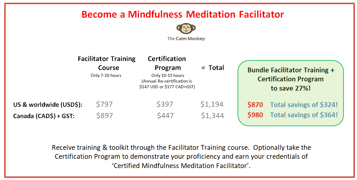 Mindfulness Meditation Training Certification Bundle