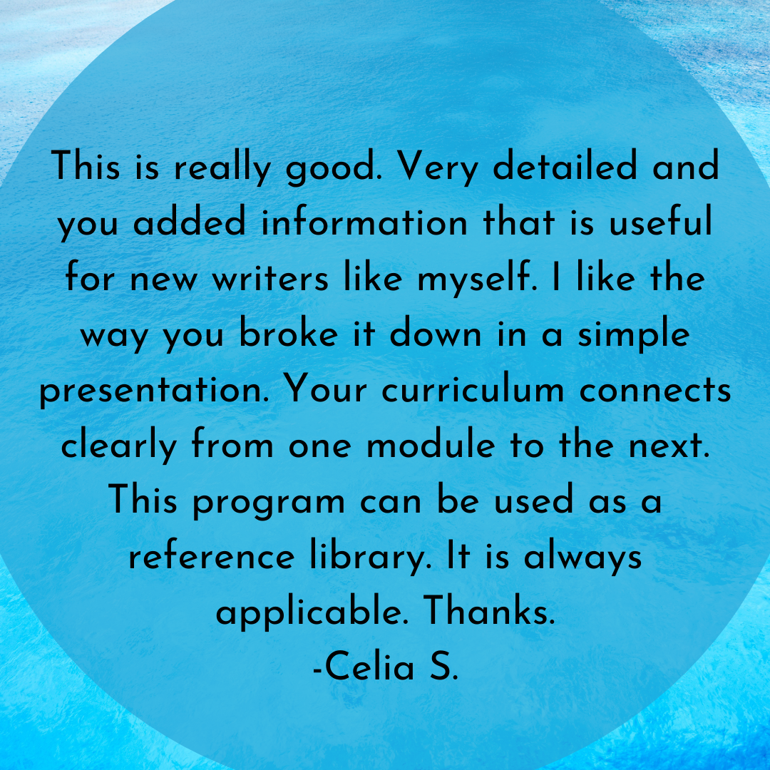 student testimonial from celia for how to blog like a pro