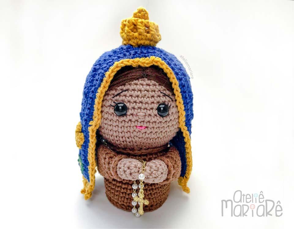 Imagem de Nossa Senhora Aparecida em Crochê