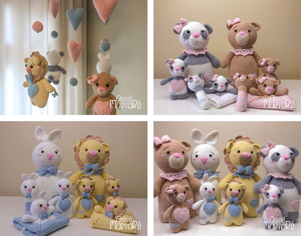 Urso Panda - Amigurumi Curitiba | Fazer croche, Padrões amigurumi ... | 753x960