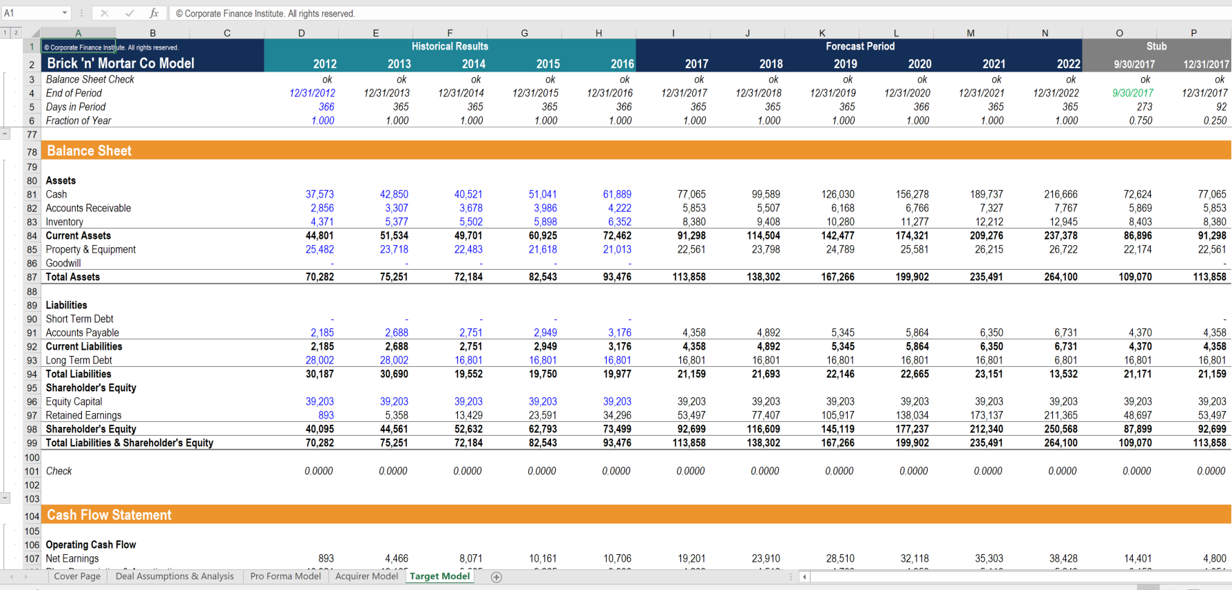 advanced financial modeling