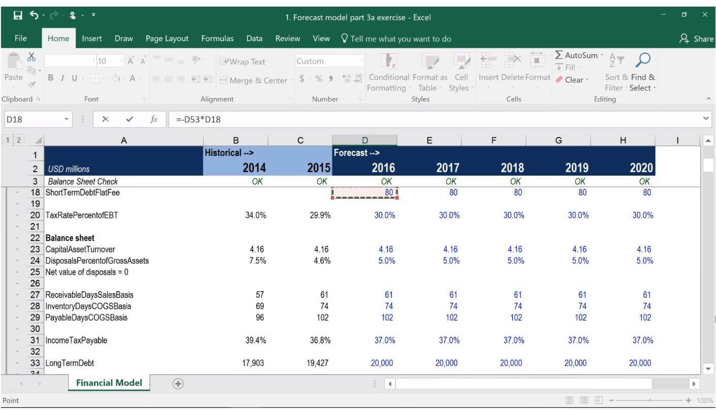 tutorial how to build a financial model in excel