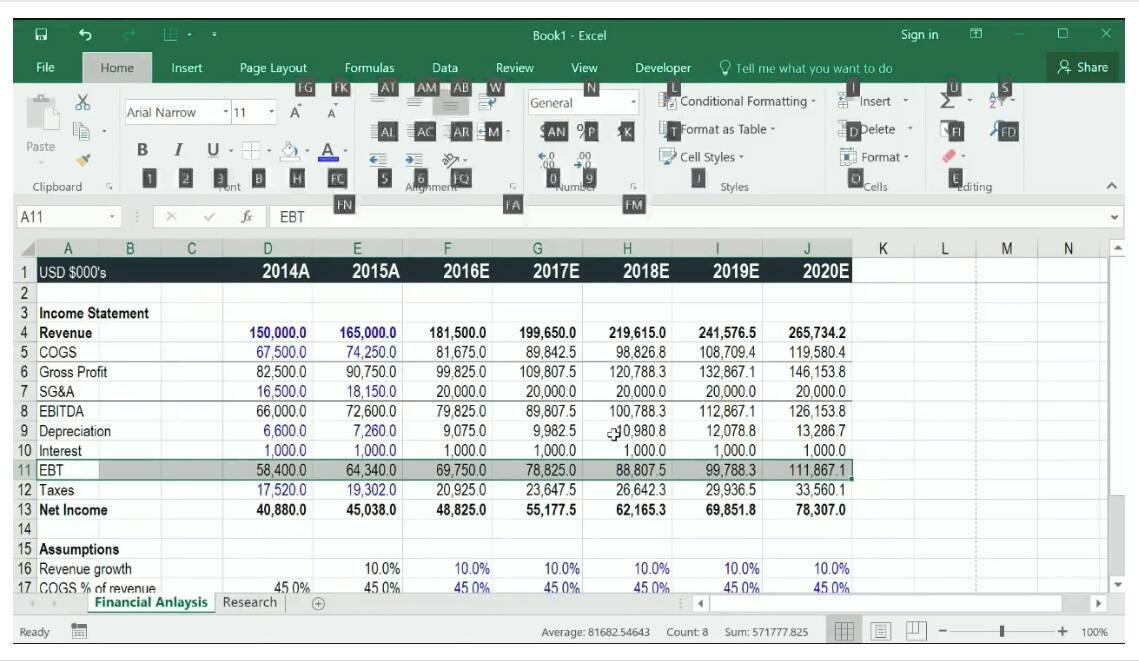 Free Excel Course and training Online (screenshot)