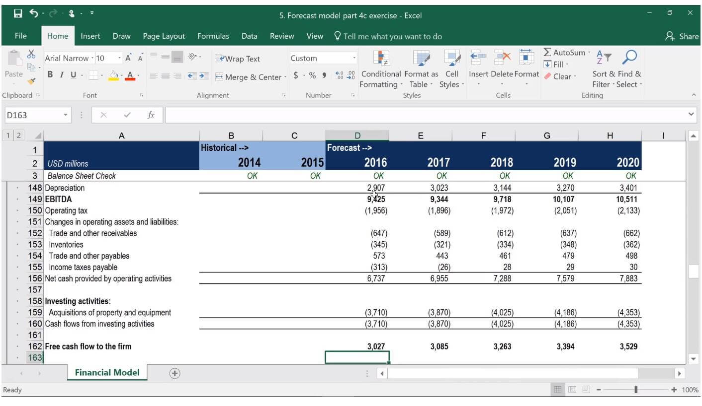 free cash flow and valuation modeling