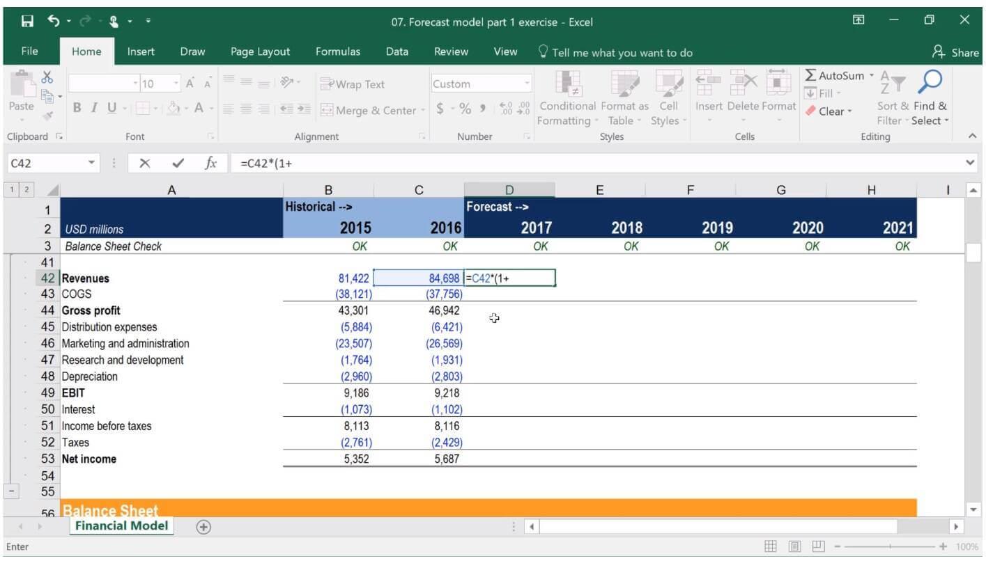 financial modeling training class 3