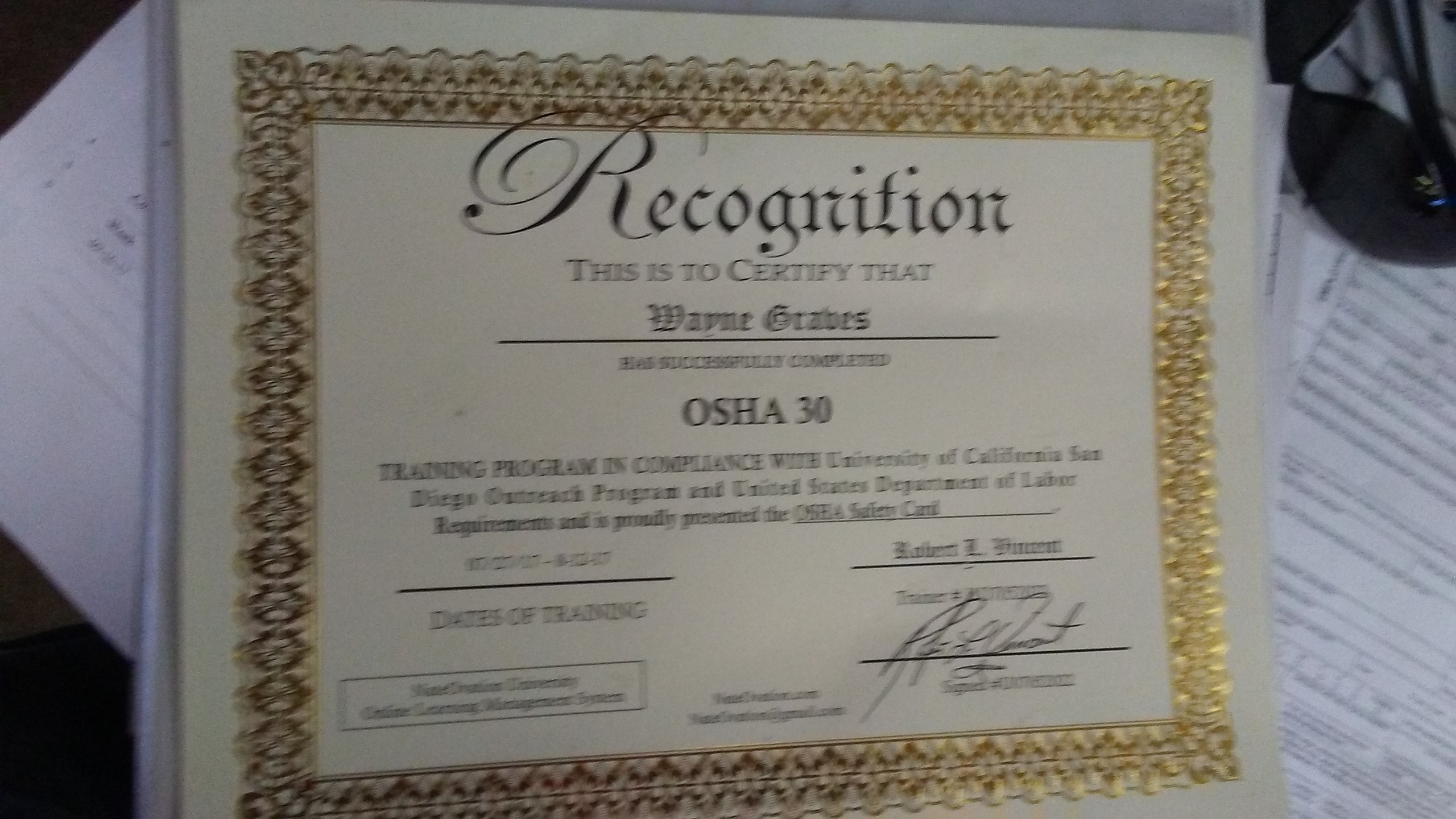 osha safety class hour construction course card sample official cert courses