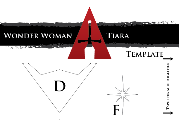 How to make wonder woman tiara course template above is a sample of the quality of the template i have done all the legwork in getting the right proportions and getting the look just perfect so that you pronofoot35fo Choice Image