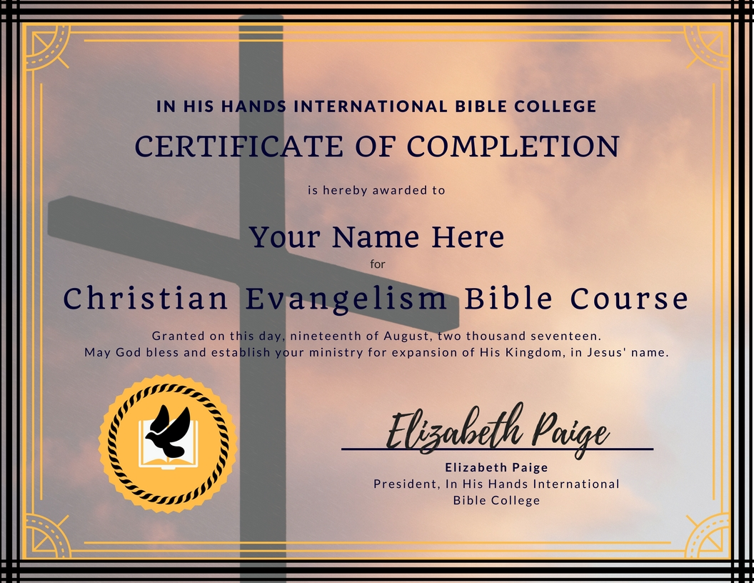 Free Bible Bachelor's College Course on Christian Evangelism