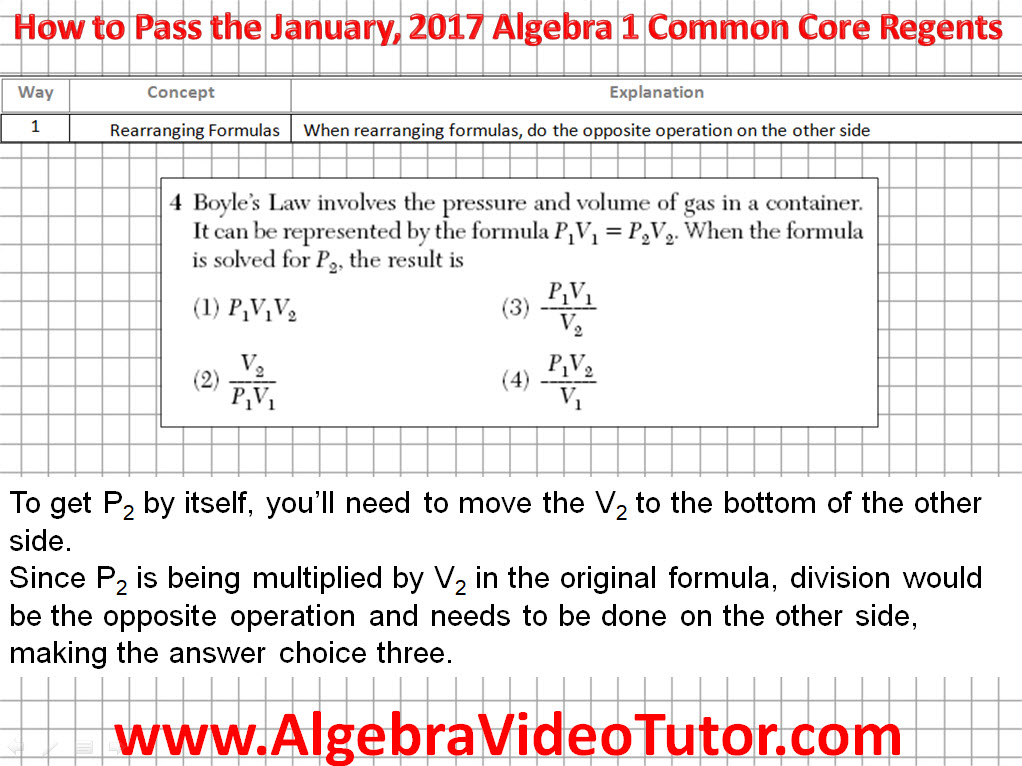 how to pass the algebra 1 common core regents january. Black Bedroom Furniture Sets. Home Design Ideas