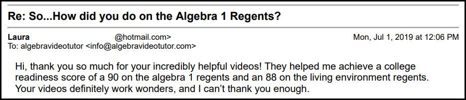 30 Ways to Pass the Algebra 1 Common Core Regents