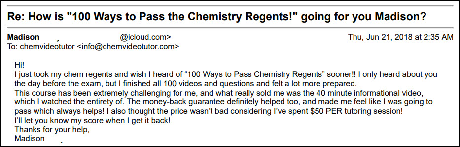 100 Ways to Pass the Chemistry Regents
