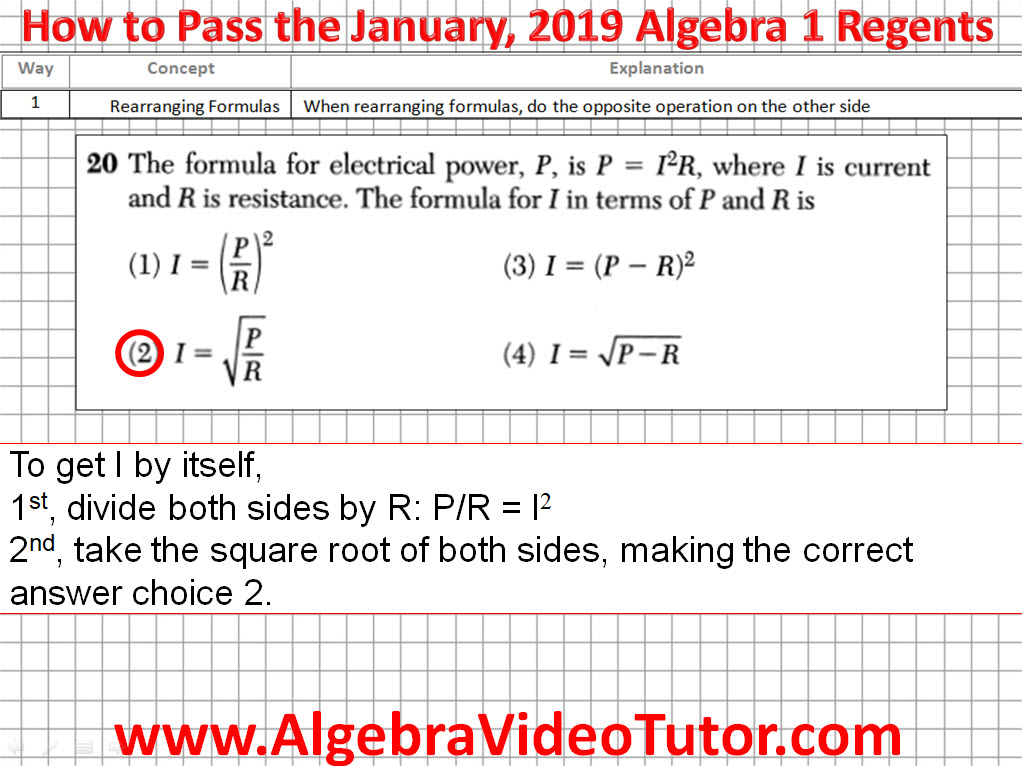 january algebra 2 regents 2020