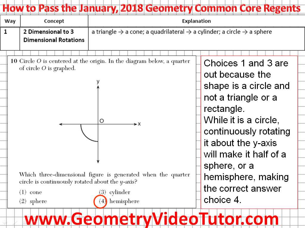 How to Pass the Geometry Common Core Regents - January, 2018