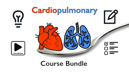 cardiology course and pulmonary course bundle