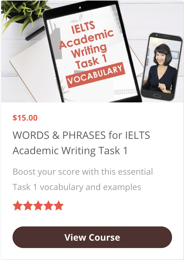 Words & Phrases for IELTS Academic Writing Task 1