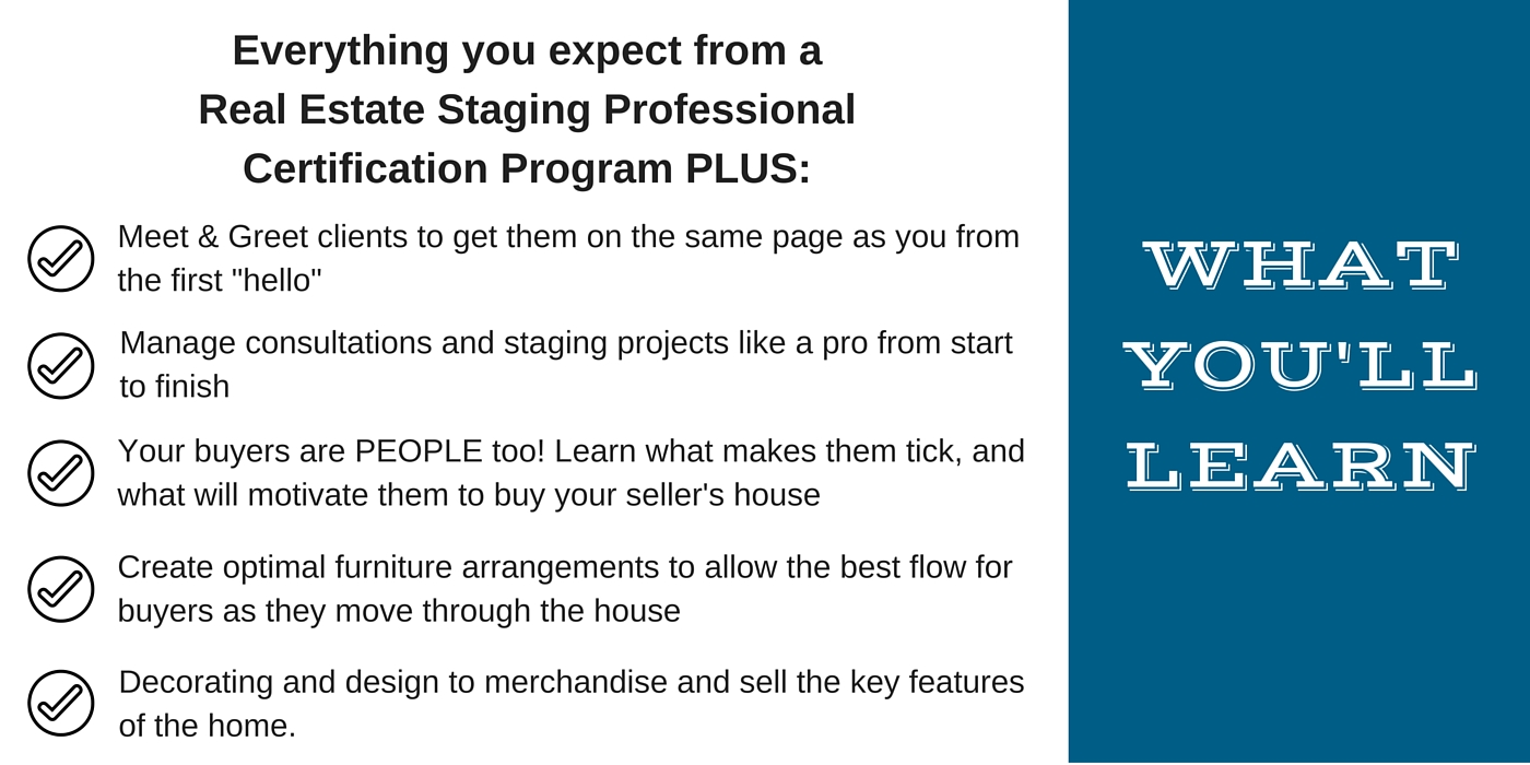 real estate staging professional certification training from the standard quick fix market ready solutions to larger renovation projects and upgrades such as flooring bathroom renovations kitchen renovations
