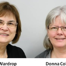 Marilyn Wardrop and  Donna Cole