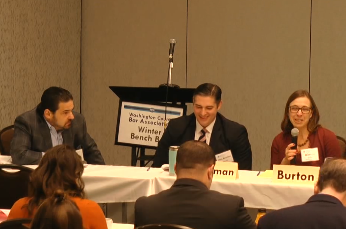 Aimee Burton, Esq.; Mark Gubinsky, Esq.; and Hon. Brandon Neuman