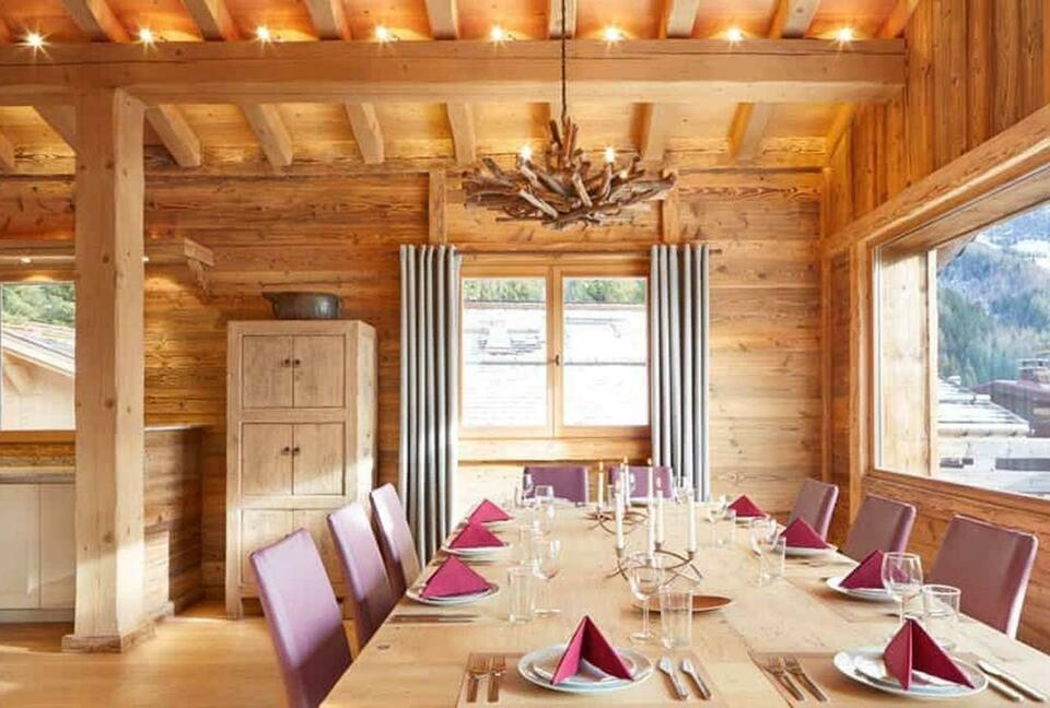 Classic Gold Chalet in the Alps