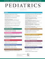 Journal cover: Pediatrics