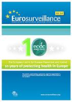 Cover of Eurosurveillance