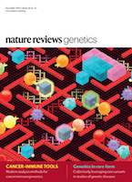 cover of Nature Reviews Genetics