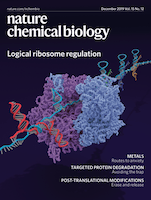 Cover of Nature Chemical Biology