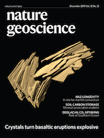 Cover of Nature Geoscience