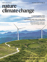 Cover of Nature Climate Change
