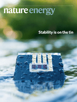Cover of Nature Energy