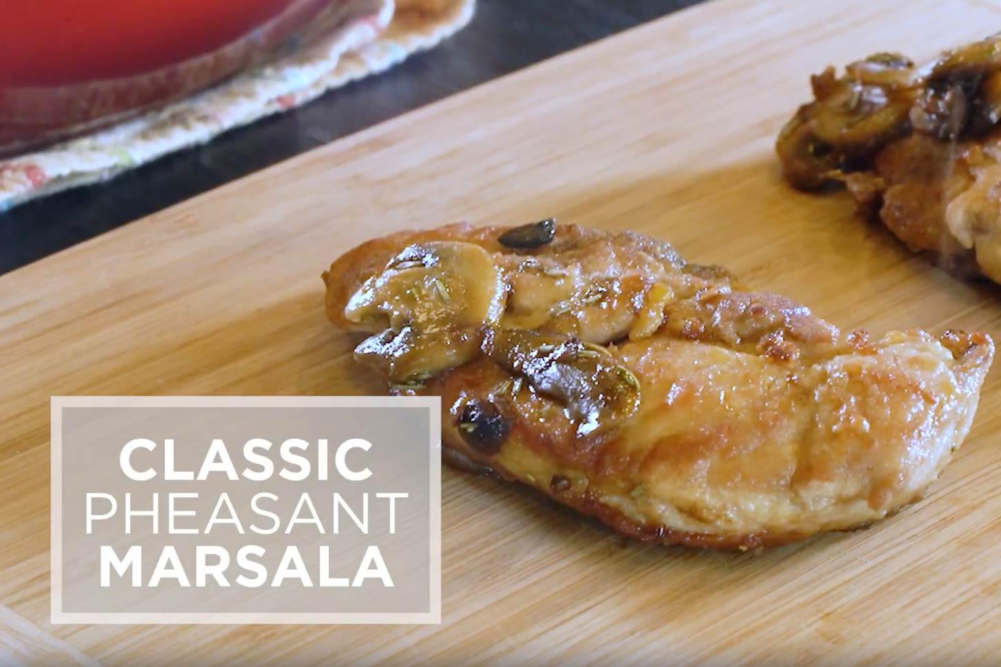 Classic Pheasant Marsala