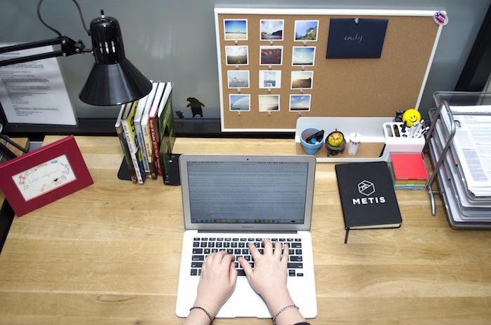 Blog office desk