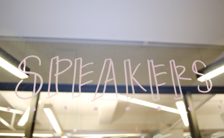 Blog speakers signage