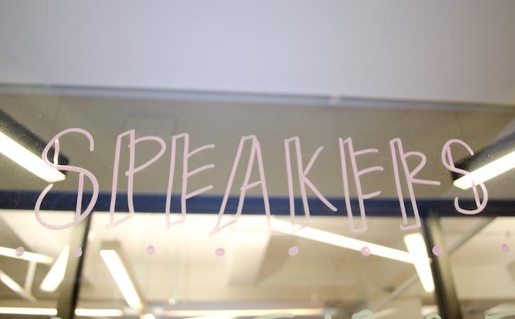 Blog speakers signage