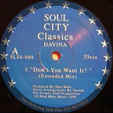 "Don't You Want It (Extended 12"" mix)"