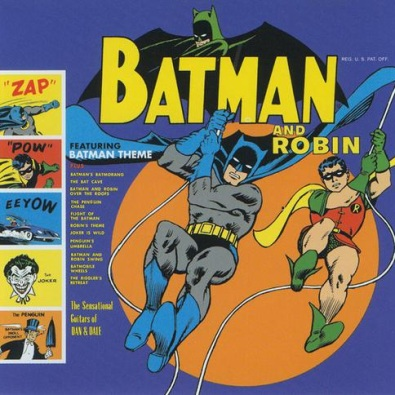 Batman and Robin Over the Roofs