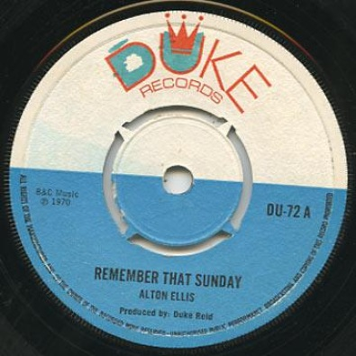 Remember That Sunday