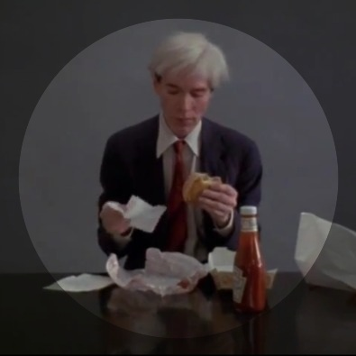 Andy Warhol Eating A Hamburger