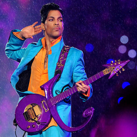 Prince playing at Super Bowl XLI on February 4, 2007 (won by the Indianapolis Colts)