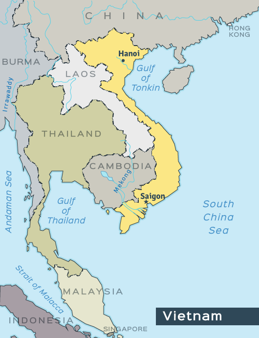 Map Of Asia During Vietnam War.U S History Ii Ch27 The Vietnam War Top Hat