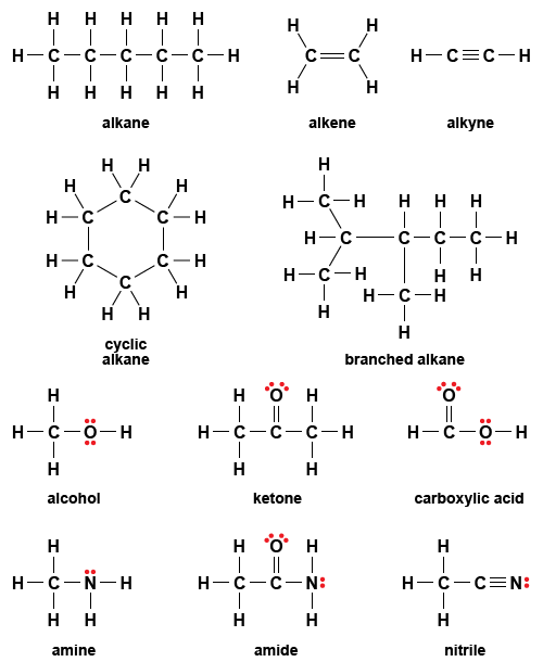 figure 8 28  examples of lewis structures for organic molecules