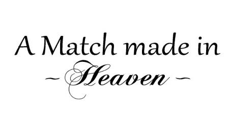 A match made in heaven vinyl wall home lettering art words