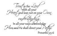 Vinyl Wall Art Words Decals Custom Sticker Trust in the Lord with all
