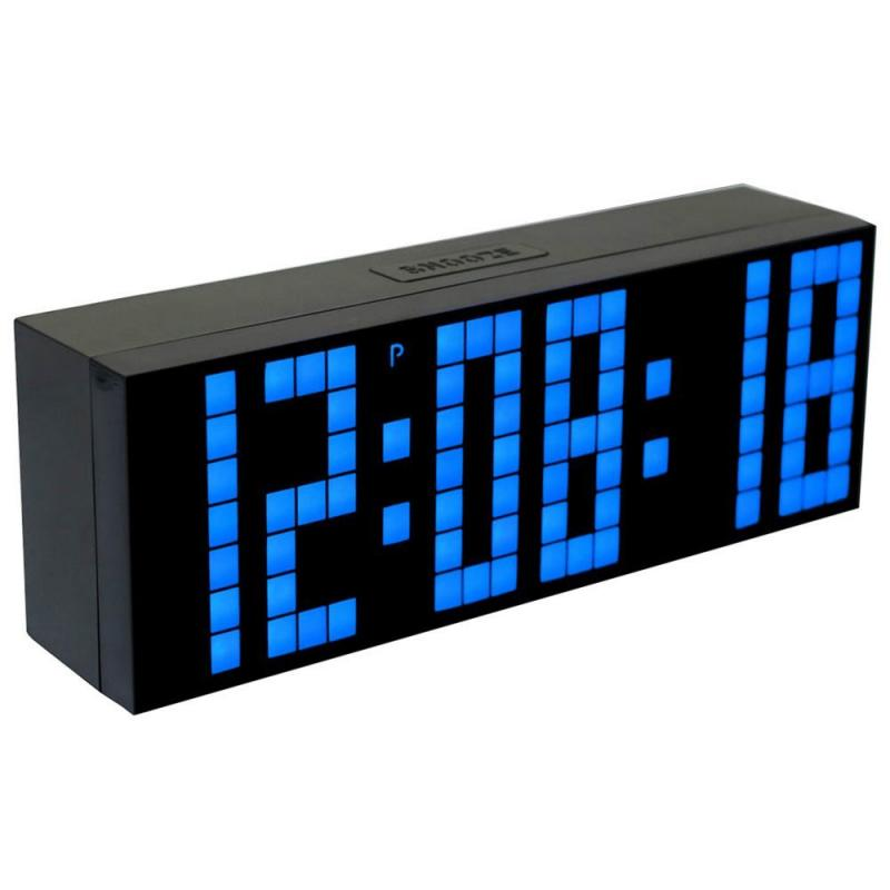 Digital large lighted led wall desk alarm clock table calendar timer - Digital illuminated wall clocks ...