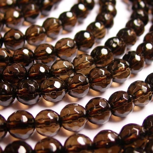 6 mm Brown Smoky Quartz Machine Cut Beads 16 Strand Natural Smoky Quartz Micro Cut Faceted Rondelle Gemstone Bead AAA Quality Jewelry Craft
