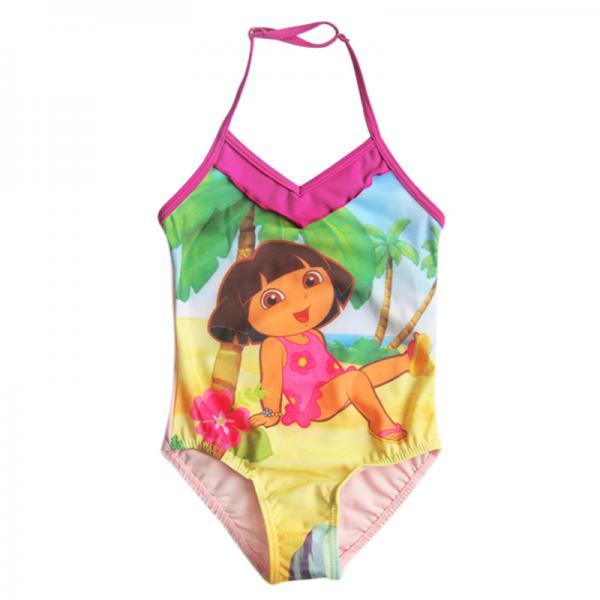 Dora Girls Kids Princess Swimming Swimsuit Swimwear Swim Suit Pink Bather Sz 2T