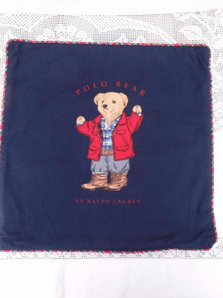 Ralph Lauren Throw Pillow Covers : Ralph Lauren Polo Bear Designer Home Decor Throw Pillow Case Cover Navy eBay